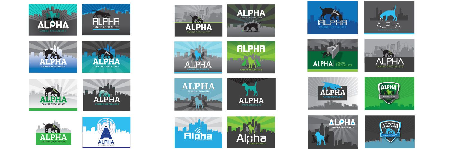 Alpha Canine specialists logo ideas